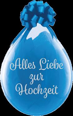 """Qualatex Verpackungsballon Alles Liebe zur Hochzeit Diamond Clear 45cm/18"""" 25 Stück"""