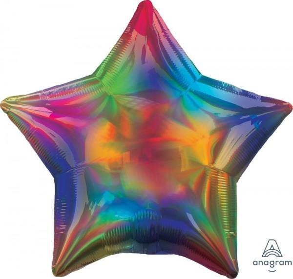 "Anagram Folienballon Stern Iridescent Rainbow Holo 45cm/18"""
