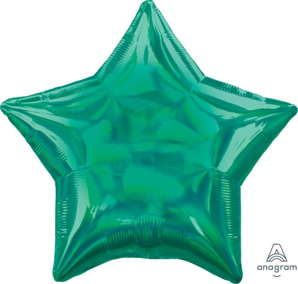 "Anagram Folienballon Stern Iridescent Green Holo 45cm/18"""