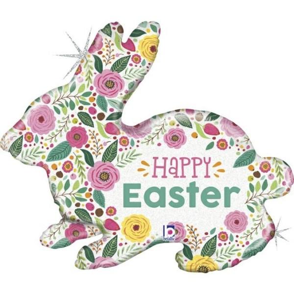 """Betallic Folienballon 81cm/32"""" Spring Flower Easter Bunny"""