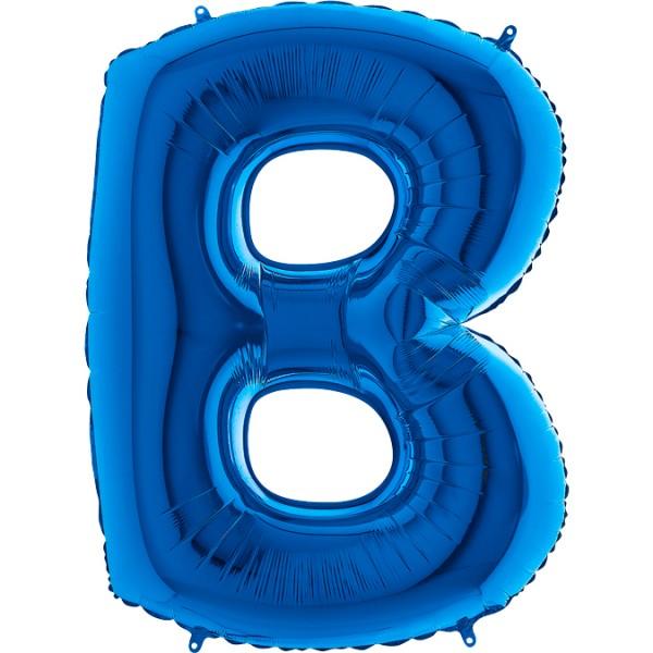 "Grabo Folienballon Blau 100cm/40"" Buchstabe"