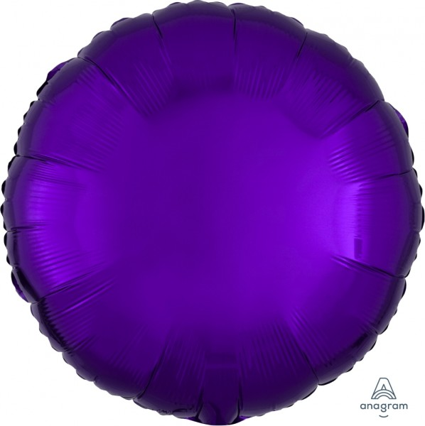 Anagram Folienballon Rund Metallic Purple 45cm/18""