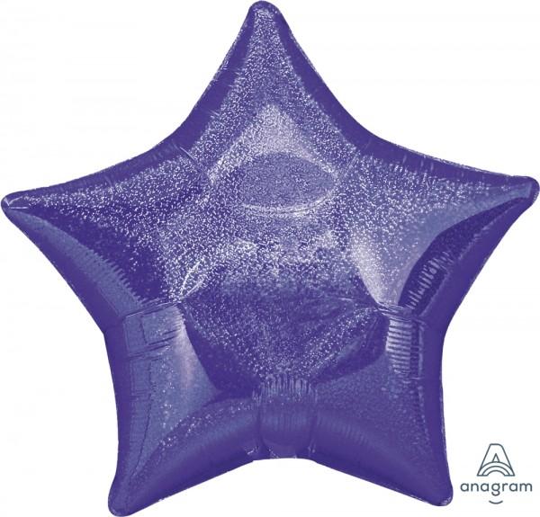 "Anagram Folienballon Stern Purple (Purple Dazzler) 20"""