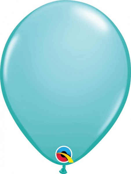 "Qualatex Latexballon Fashion Caribbean Blue 28cm/11"" 100 Stück"