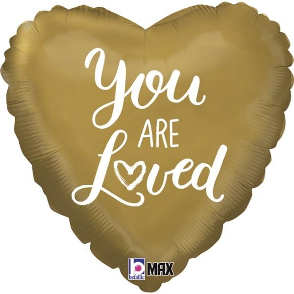 "Betallic Folienballon Heart You are Loved 45cm/18"""