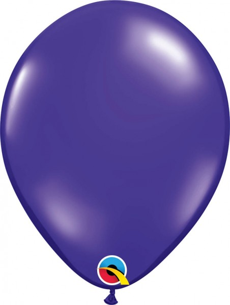 "Qualatex Latexballon Jewel Quartz Purple 28cm/11"" 100 Stück"