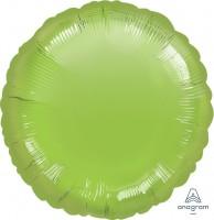 "Anagram Folienballon Rund Metallic Lime Green 45cm/18"""