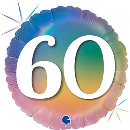 "Grabo Folienballon Happy 60 Colourful Rainbow 45cm/18"""
