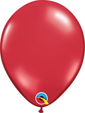 "Qualatex Latexballon Jewel Ruby Red 13cm/5"" 100 Stück"