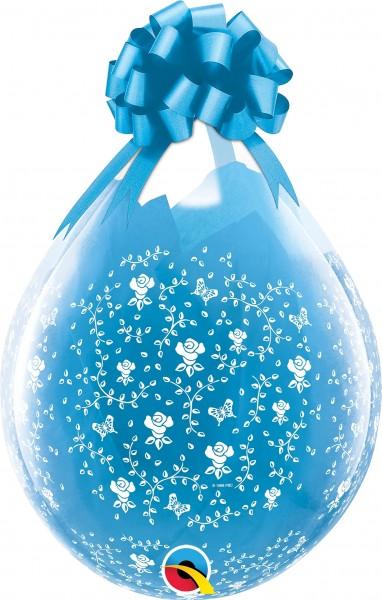 "Qualatex Verpackungsballon Flowers-A-Round Diamond Clear 45cm/18"" 25 Stück"