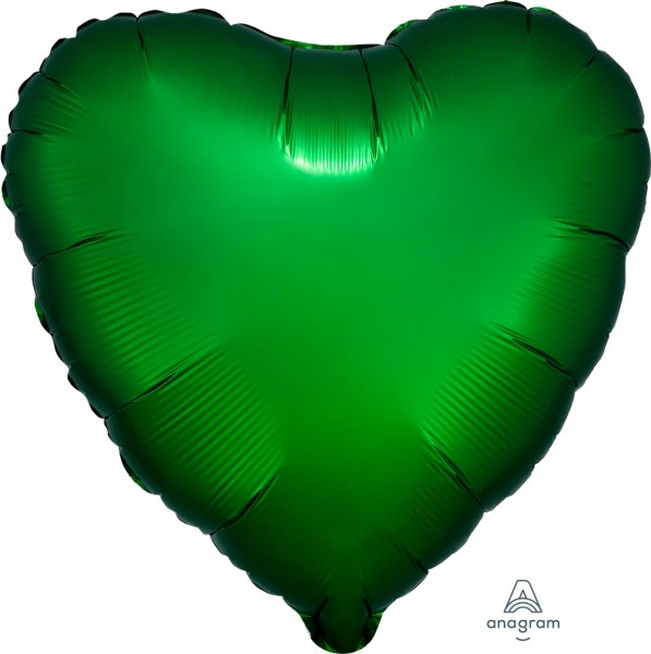"Anagram Folienballon Herz Satin Luxe Emerald 45cm/18"""