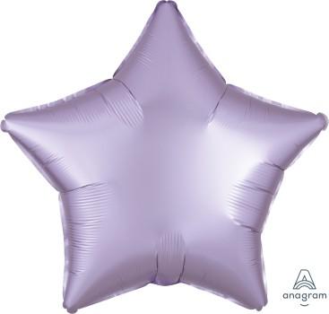 Anagram Folienballon Stern 50cm Durchmesser Satin Luxe Pastell Lila (Pastel Lilac)