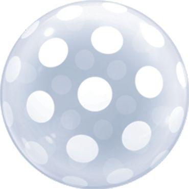 """Qualatex Bubbles Deco Bubble Big Polka Dots 50cm/20"""""""