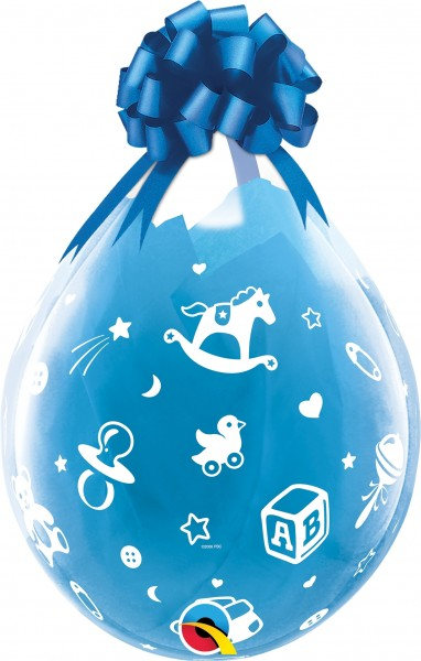 "Qualatex Verpackungsballon Baby's Nursery Diamond Clear 45cm/18"" 25 Stück"
