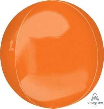 Anagram Folienballon Orbz 40cm Durchmesser Orange