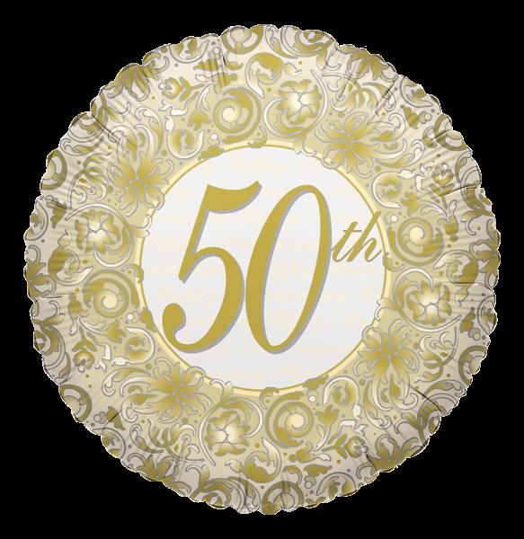 """Kaleidoscope Folienballon """"50. Jubiläum"""" 45cm/18"""""""