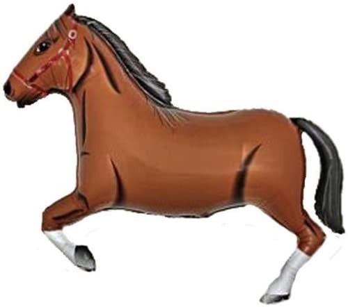 "Grabo Folienballon Horse Dark Brown 91cm/36"""