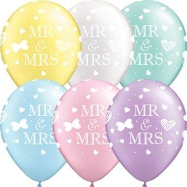 """Qualatex Latexballon Mr. & Mrs. Pearl Sortiment 40cm/16"""" 25 Stück"""