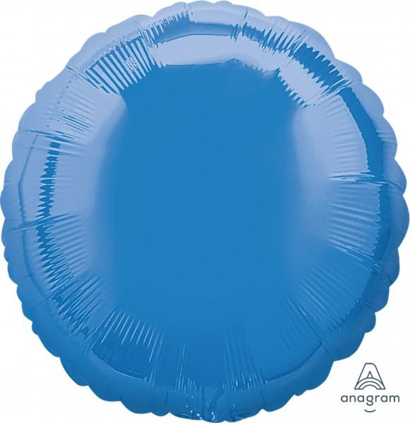 """Anagram Folienballon Rund Mittelblau (Periwinkle) 45cm/18"""""""