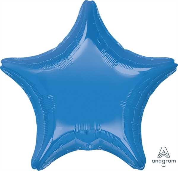 "Anagram Folienballon Stern Mittelblau (Medium Blue) 50cm/20"""
