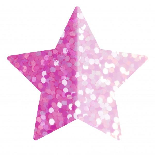 Goodtimes Folienkonfetti 1,7cm Stern 100g Holo Pink
