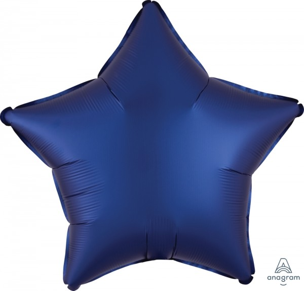"Anagram Folienballon Stern Satin Luxe Navy 50cm/20"""