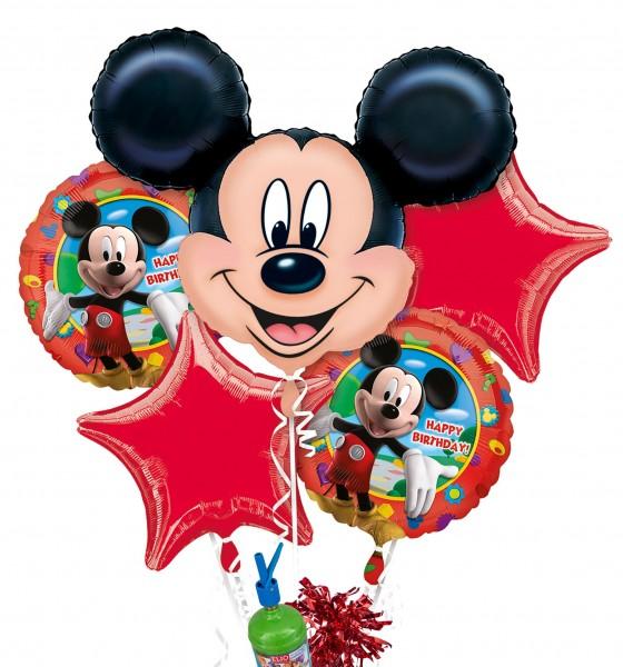 "Folienballon Helium Set ""Geburtstag mit Micky Maus"""