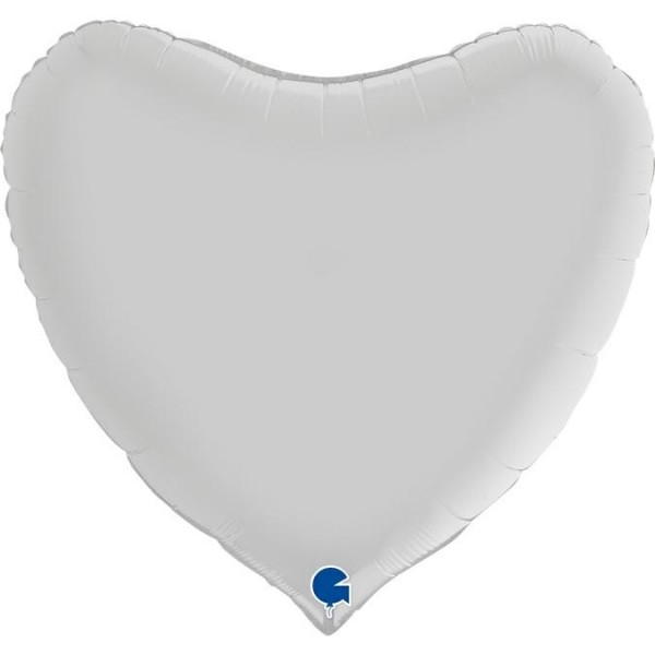 Grabo Folienballon Heart Satin White 91cm/36""