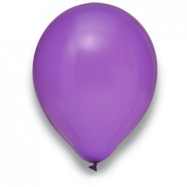 "Globos Luftballons Metallic Lila Naturlatex 30cm/12"" 100er Packung"