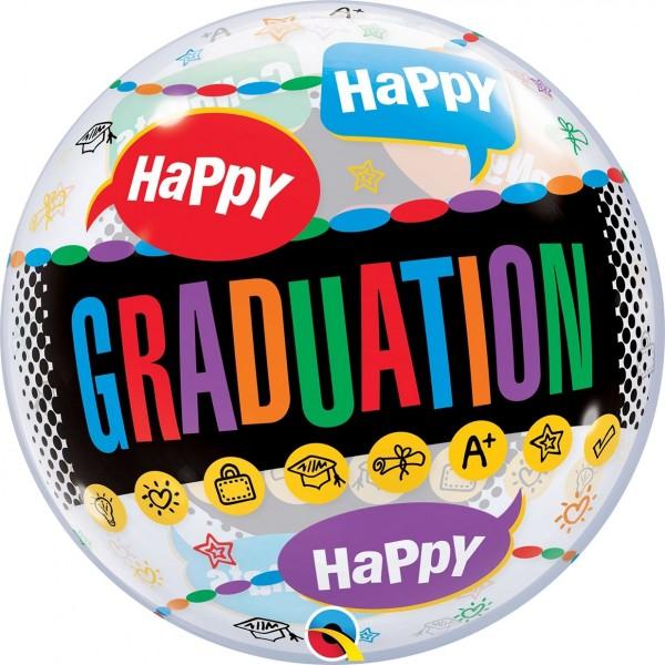 """Qualatex Bubbles Congratulation Grad Caps 55cm/22"""""""