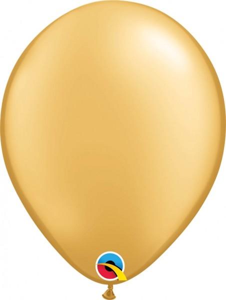 "Qualatex Latexballon Metallic Gold 28cm/11"" 100 Stück"