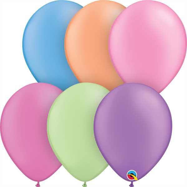 "Qualatex Latexballon Neon Assortment 28cm/11"" 100 Stück"