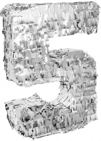 Goodtimes Pinata Zahl 5 in Silber