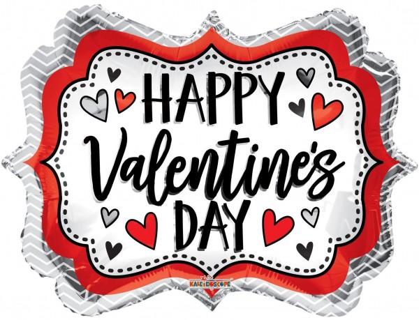 "Kaleidoscope Folienballon Happy Valentines Tag Marquee 45cm/18"""