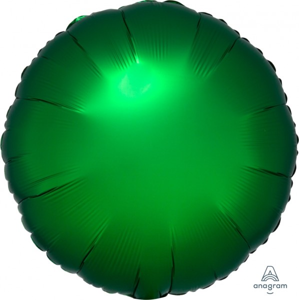 Anagram Folienballon Rund Satin Luxe Emerald 45cm/18""
