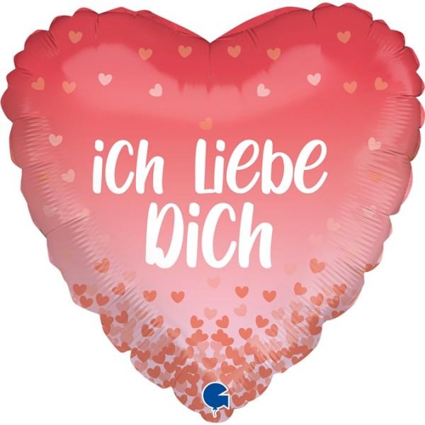 """Grabo Folienballon Ich liebe dich 45cm/18"""""""