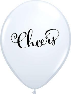 "Qualatex Latexballon Simply Cheers White 28cm/11"" 6 Stück"