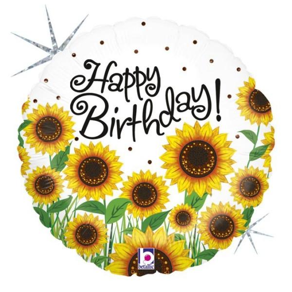 "Betallic Folienballon Sun Sunflower Birthday Holographic 45cm/18"""