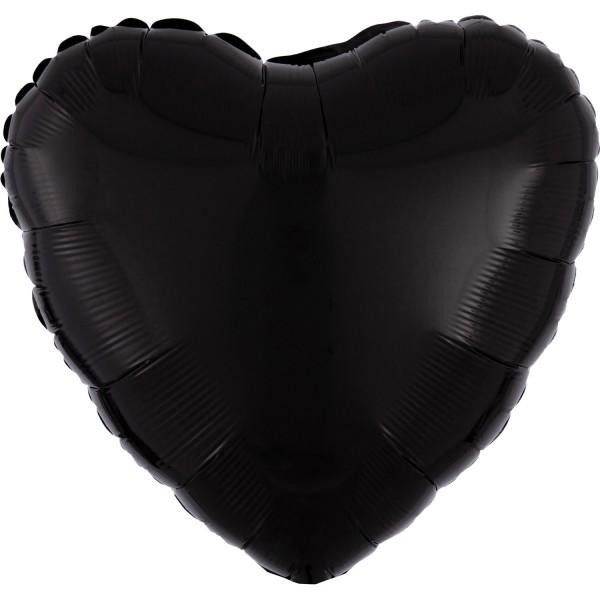 "Anagram Folienballon Herz Black 45cm/18"""