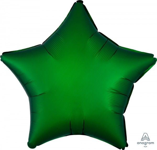 "Anagram Folienballon Stern Satin Emerald 50cm/20"""