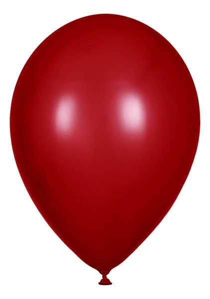 Metallic Luftballons, Kirschrot, 30cm Ø, 100 Stück