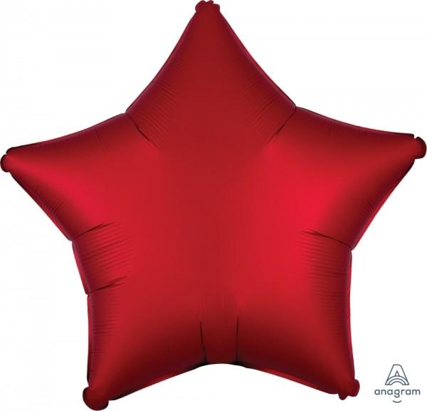"Anagram Folienballon Stern Satin Rot (Sangria) 50cm/20"""