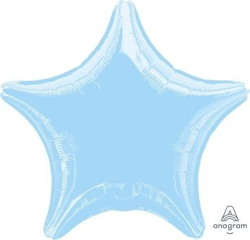 "Anagram Folienballon Stern Metallic Pearl Pastel Blue 50cm/20"""
