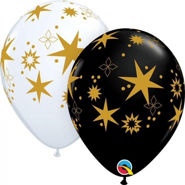 "Qualatex Latexballon Star Patterns 28cm/11"" 25 Stück"