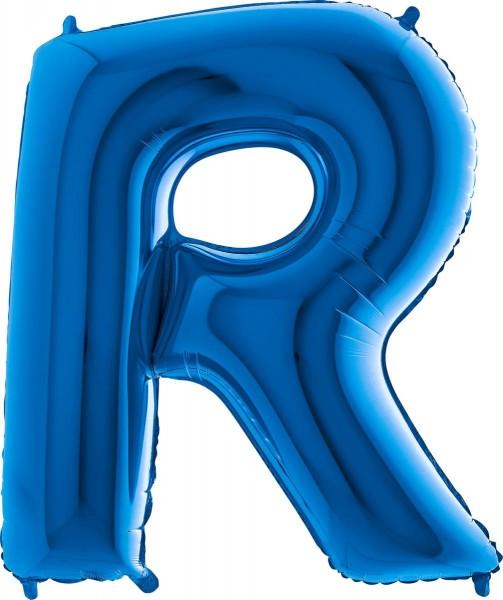 "Grabo Folienballon Buchstabe R Blue 100cm/40"""