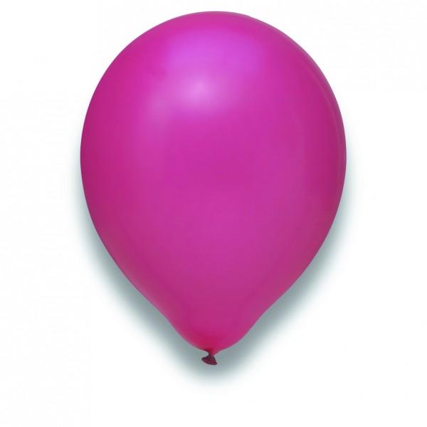 "Globos Luftballons Magenta Naturlatex 30cm/12"" 100er Packung"