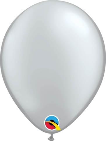 "Qualatex Latexballon Metallic Silver 13cm/5"" 100 Stück"