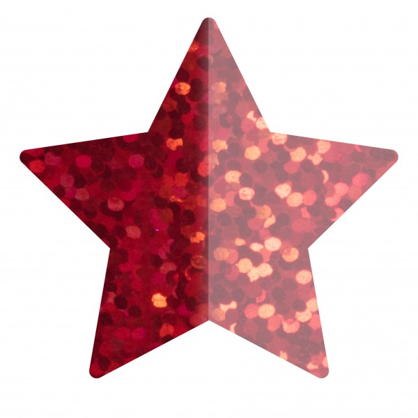 Goodtimes Folienkonfetti 1,7cm Stern 100g Holo Rot
