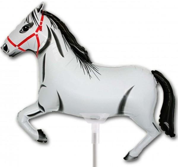 """BWS White Horse 35cm/14"""" luftgefüllt mit Stab"""