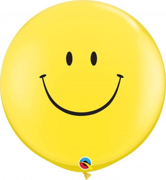 "Qualatex Latexballon Smile Face Standard Yellow 90cm/36"" 2 Stück"